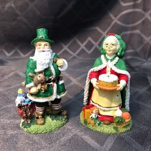 Mr & Mrs Irish Father Christmas Figures